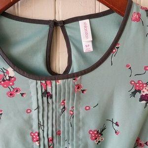 SALE* Xhilaration teal floral print midi dress